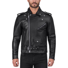 Viking Cycle/Nomad USA Angel Fire Black Leather Motorcycle Jacket for Men