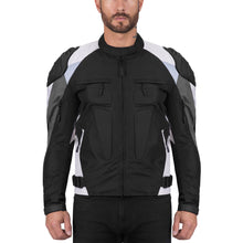 Viking Cycle Asger Gray Textile Motorcycle Jacket for Men