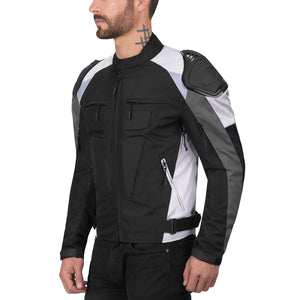 Viking Cycle Asger Gray Motorcycle Textile Jacket for Men