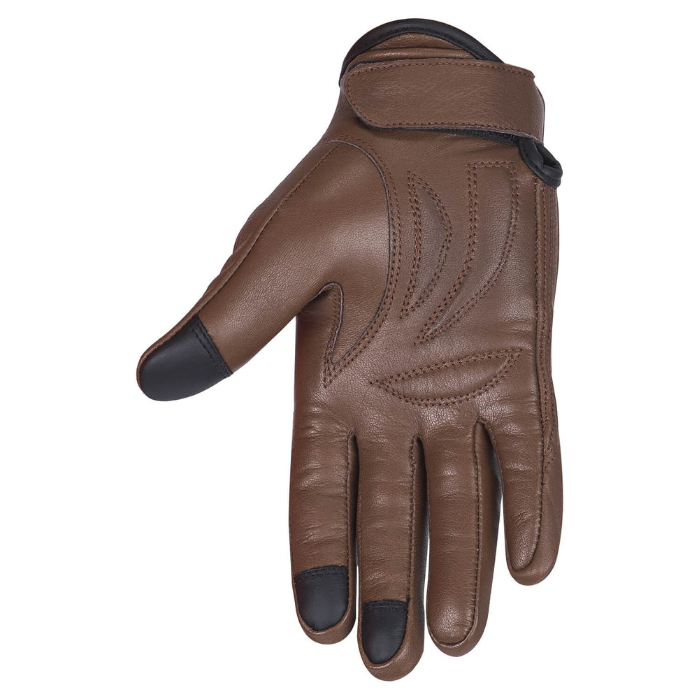 Viking Cycle Standard Brown Motorcycle Leather Gloves for Men