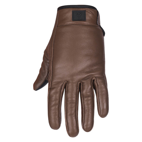 Viking Cycle Standard Brown Motorcycle Leather Gloves for Women