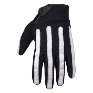 Viking Cycle Panache Riding Black/White Textile Motorcycle Gloves for Men