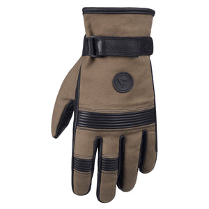 Viking Cycle Prestige Canvas Riding Leather/Textile Motorcycle Gloves for Men