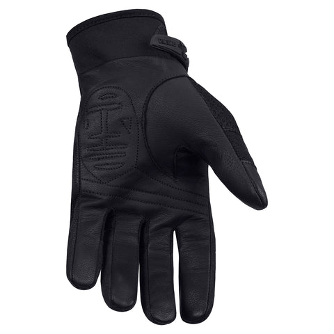 Viking Cycle Crossbreed Riding Leather Textile Motorcycle Gloves for Men