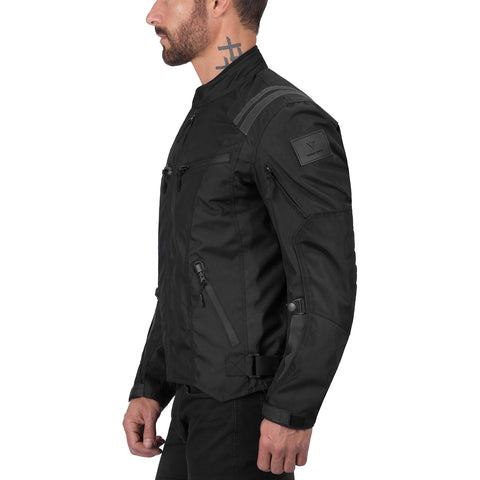 Viking Cycle Ironborn Black Motorcycle Textile Jacket for Men