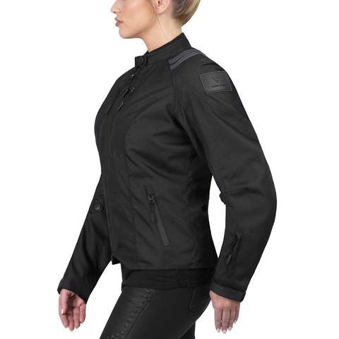 Viking Cycle Ironborn Black Textile Motorcycle Jacket for Women