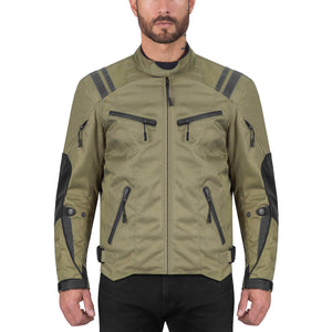 Viking Cycle Ironborn Military Green Motorcycle Textile Jacket for Men
