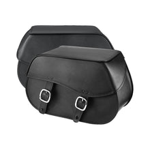 Nomad USA Large Leather Throw-over Motorcycle Saddlebags