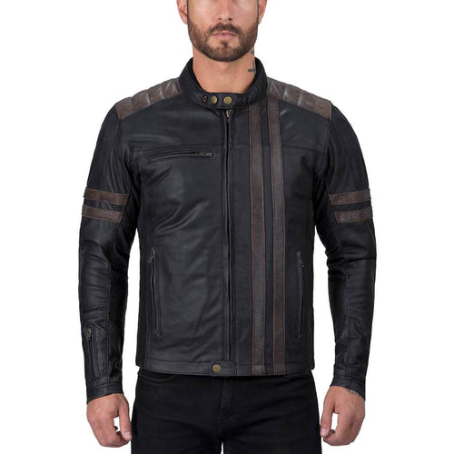 Viking Cycle Britannica Riding Leather Motorcycle Jacket for Men