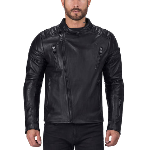 Viking Cycle Cafe Premium Leather Motorcycle  Jacket for Men