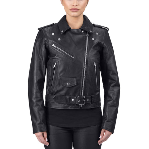 Viking Cycle Fire Goddess Leather Motorcycle Jacket for Women's