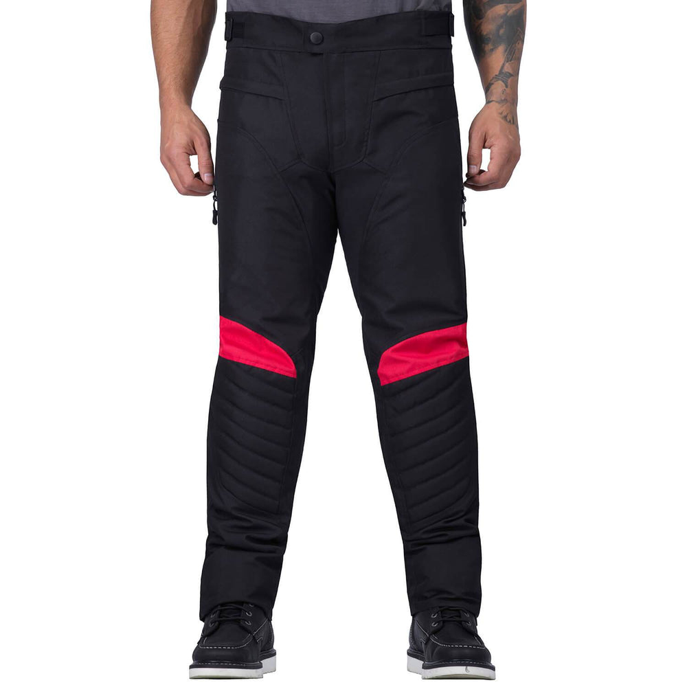 Viking Cycle Debonair Red Textile Motorcycle Pants for Men
