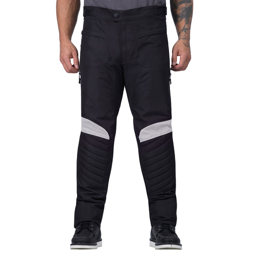 Viking Cycle Debonair White Textile Motorcycle  Pants for Men