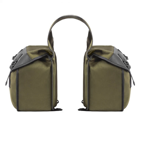Nomad USA Green Canvas Motorcycle Saddlebags