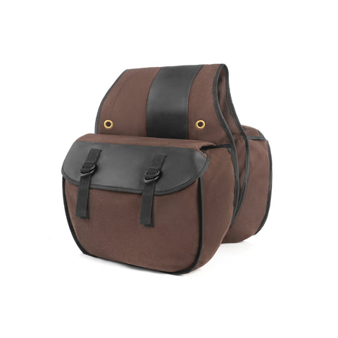 Nomad USA Khaki Canvas Motorcycle Saddlebags