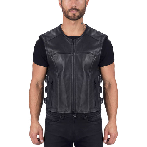 Viking Cycle Odin Leather Motorcycle Vest for Men