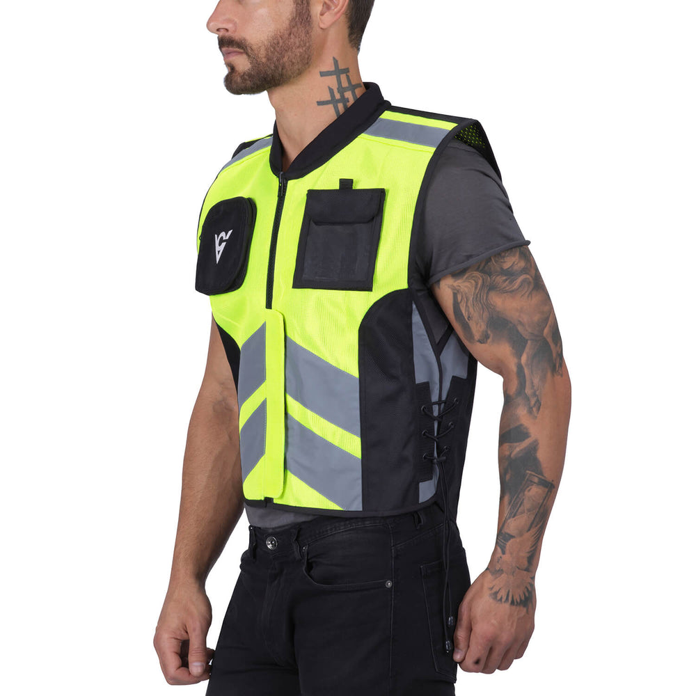 Viking Cycle Reflective Textile Motorcycle Vest for Men