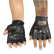 Viking Cycle Half Finger Motorcycle Leather Glove for Men