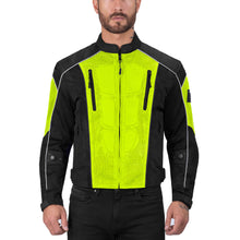 Viking Cycle Warlock Hi Viz Neon Mesh Motorcycle Jacket for Men