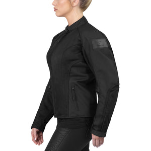 Viking Cycle Warlock Black Mesh Motorcycle Jacket for Women