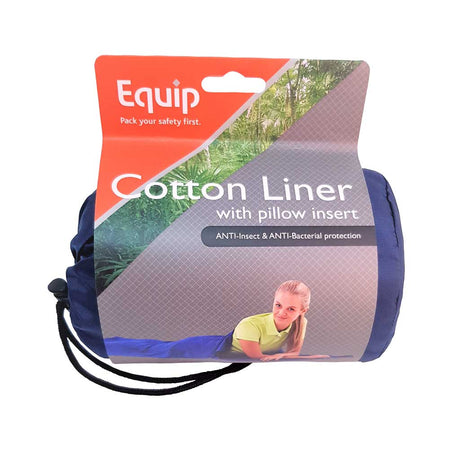 anti insect and anti bacterial cotton liner with pillow insert