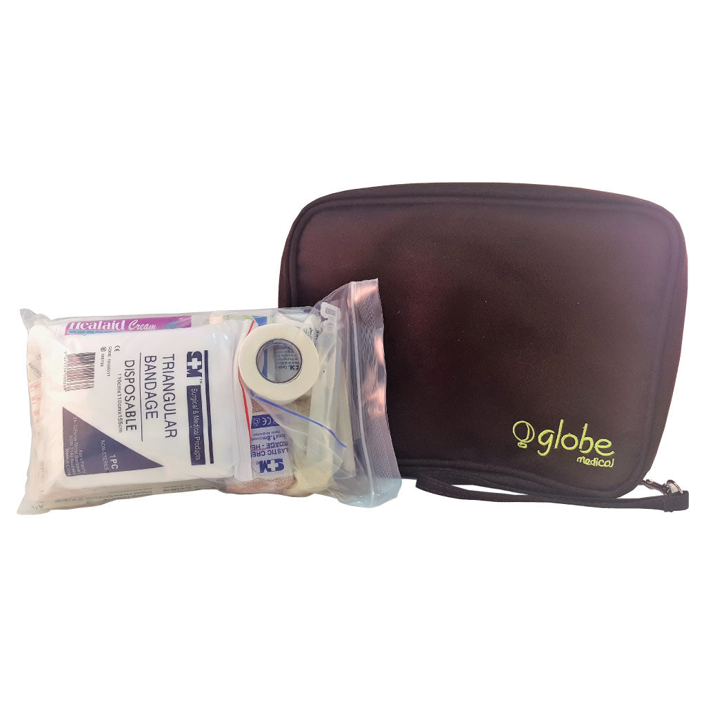 comprehensive first aid kit with large globe medical kit bag