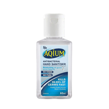 aqium alcohol hand sanitiser travel size 60ml