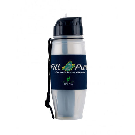 fill2pure travel safe 800ml water bottle with advanced filter