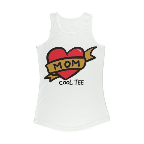 LOVE MOM BIG HEART 1 Women Performance Tank Top