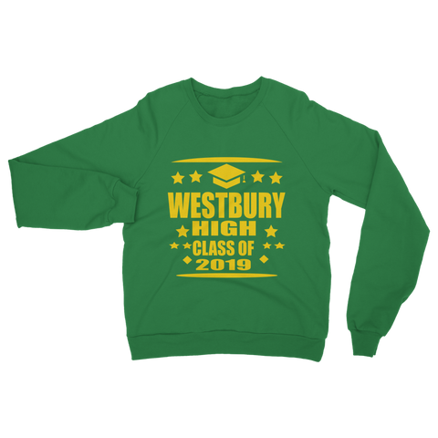 Westbury High class of 2019  Adult Sweatshirt