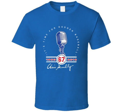 Vin Scully la dodgers announcer tribute tshirt