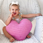 CROCHET PATTERN - Heart Pillow
