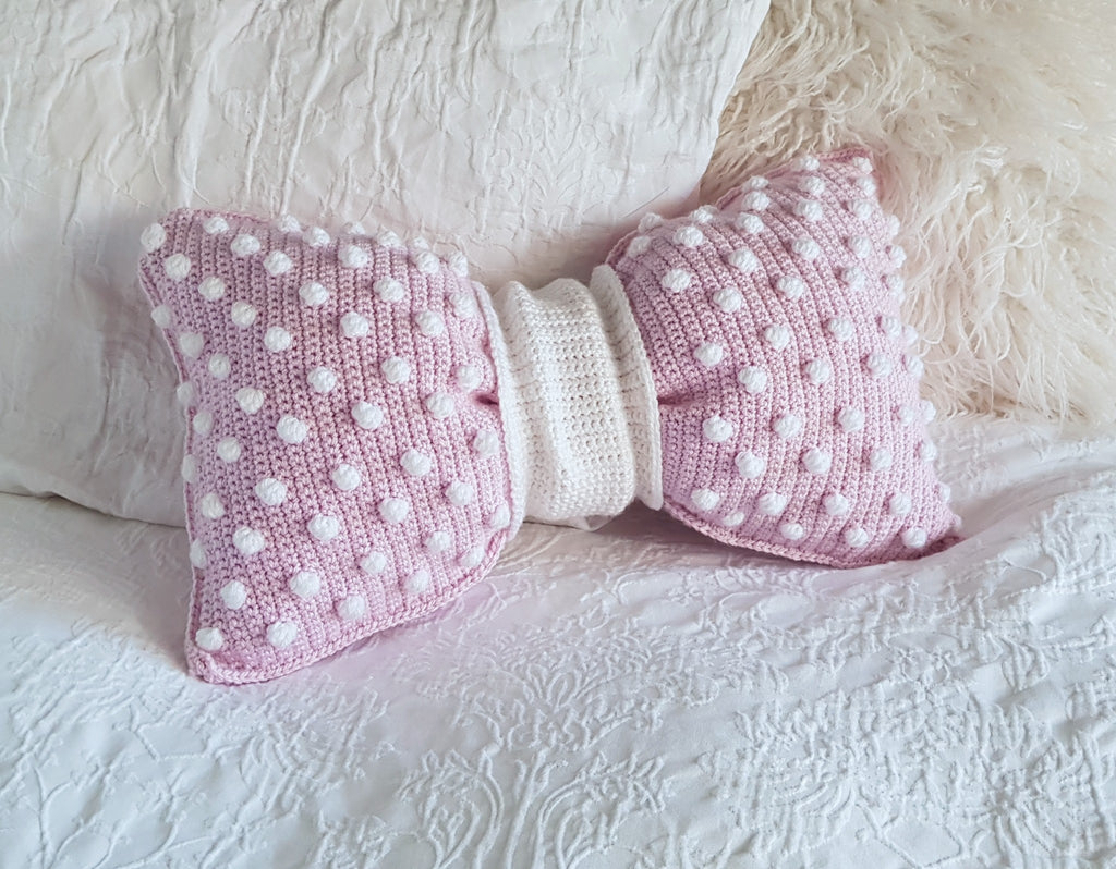 CROCHET PATTERN - Bobble Bow Pillow
