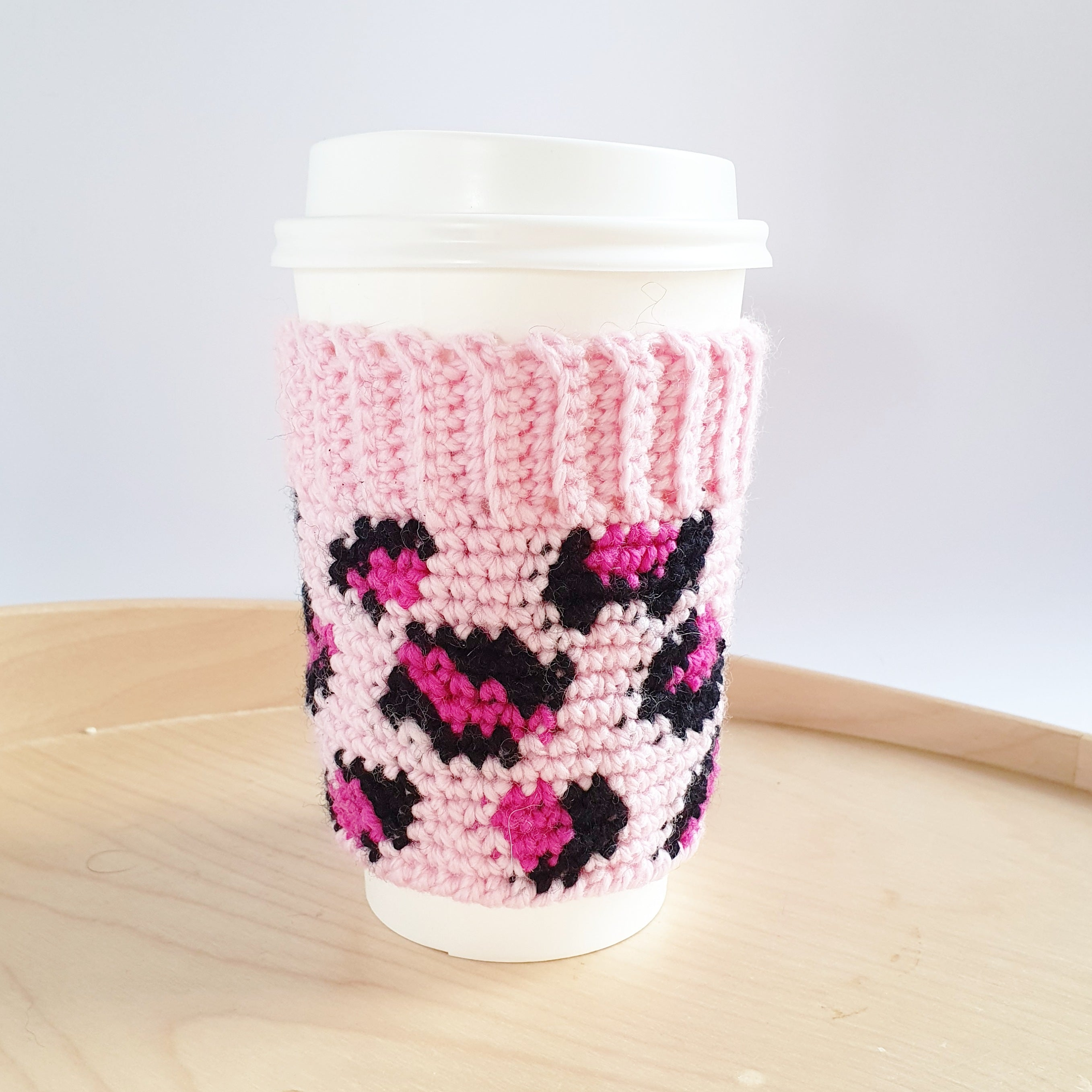 CROCHET PATTERN - Leopard Coffee Cozy