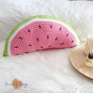 CROCHET PATTERN - Watermelon Pillow