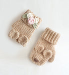 CROCHET PATTERN - Bear Gloves - Fingerless and Mitten Variations