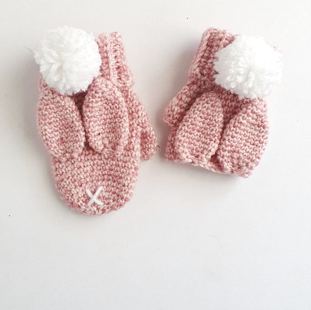 CROCHET PATTERN - Bunny Gloves - Fingerless and Mitten Variations