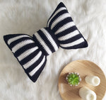 CROCHET PATTERN - Striped bow pillow