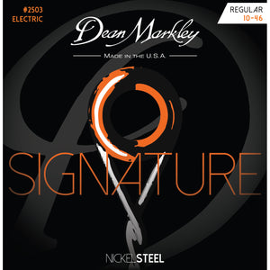 Dean Markley Nickel Steel 10-46 Reg Electric Guitar Strings 2503