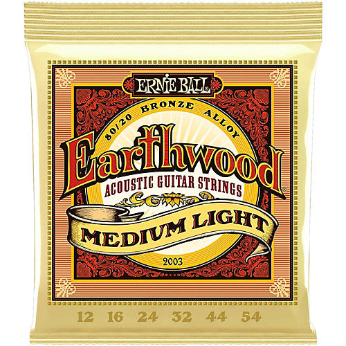 Ernie Ball Earthwood Acoustic Strings 80/20 Bronze - 12-54