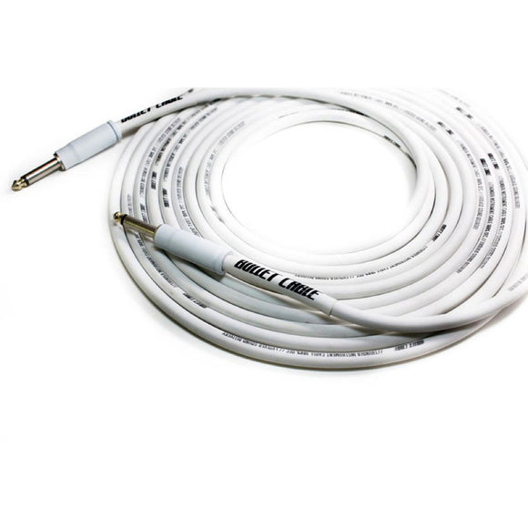 Bullet Cable Thunder Audio Cable White Str/Str Connectors 20'
