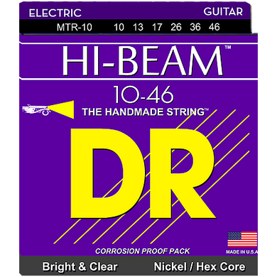 DR Hi-Beam MTR-10 Nickel-Plated Steel Hex Core Electric Strings Medium 10-46