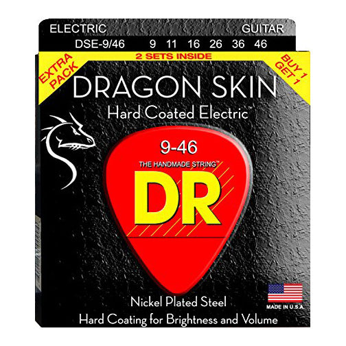 DR DSE2-9/46 DragonSkin Coated Electric Strings - 9-46
