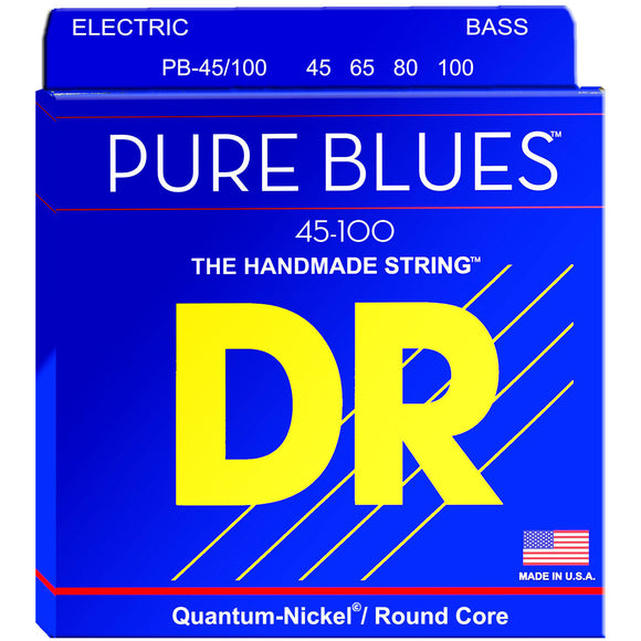 DR PB-45/100 Pure Blues Quantum-Nickel Bass Strings 45-100