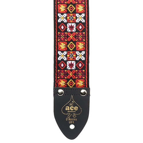 Ace Vintage Reissue Guitar Strap Xs & Os