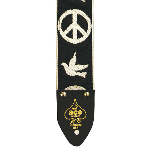 Ace Vintage Reissue Guitar Strap Peace & Dove