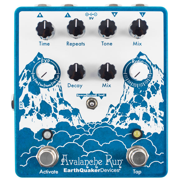 EarthQuaker Devices Avalanche Run Stereo Reverb & Delay V2