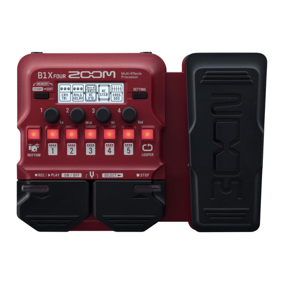 Zoom B1X Four Multi-Effects For Bass Guitar with Expression Pedal