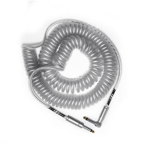 Bullet Cable 30' Coil Cable Clear Str/Ang. Connectors
