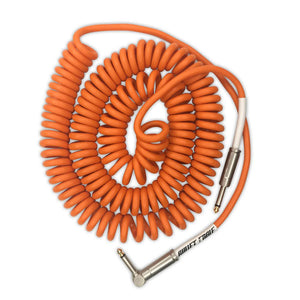 Bullet Cable 30 foot Orange Coil Cable